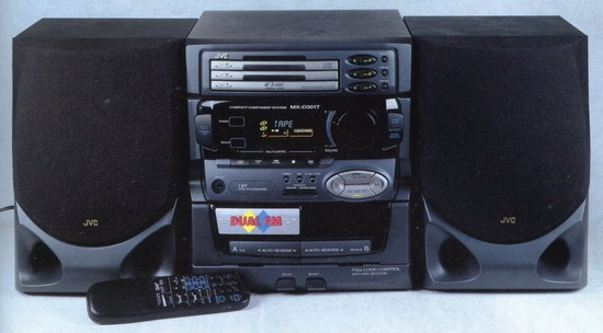 mini stereo system jvc mx d301t review and test. Black Bedroom Furniture Sets. Home Design Ideas
