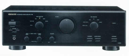 Onkyo A-9510 Integrated Stereo Amplifier, Power output 80 Watts into 8 ohms