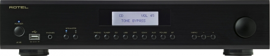 Rotel A14 Integrated amplifier, Power output 80 Watts into 8 ohms